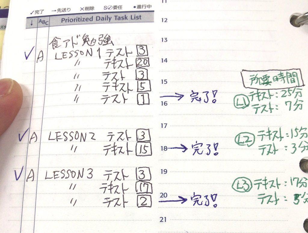 勉強の記録